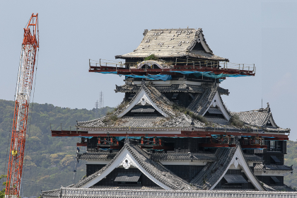 熊本城の地震からの復旧工事(熊本市・熊本)