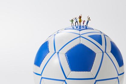 フィギュア ブラインドサッカーを応援する観客