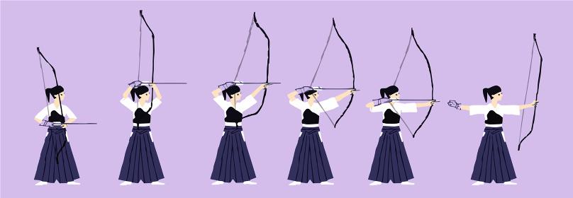弓道の動作