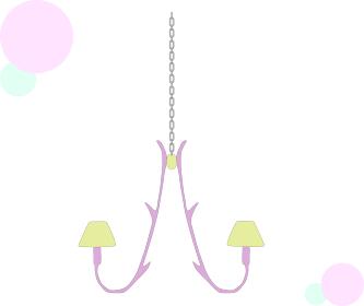 吊るす可愛い電気