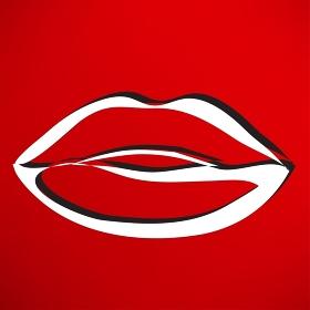 Kiss lips lipstick icon passion symbol