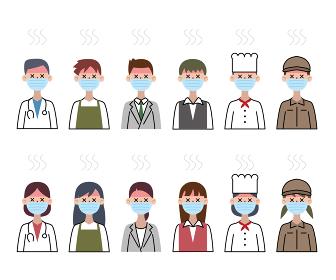 マスク 熱中症 職業