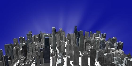 CGの高層ビル