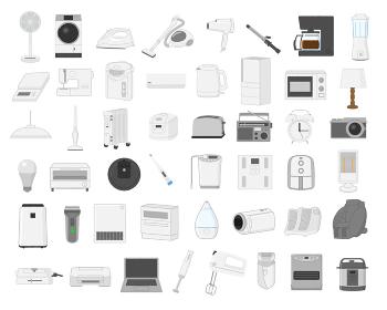 電化製品イラスト素材セット