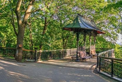 Vladimirskaya Gorka park in Kyiv, Ukraine