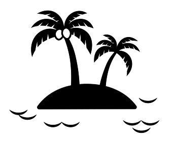 ヤシの木の南の島 アイコン