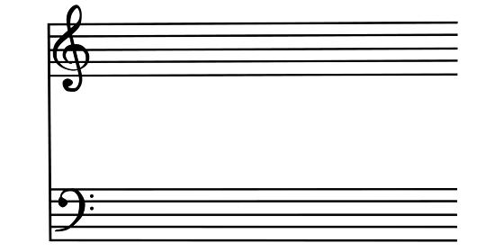 楽譜のイメージ素材、3Dレンダリング