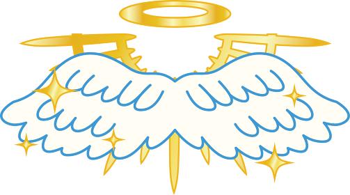 天使の羽 光輪 神降臨 崇高 十字架
