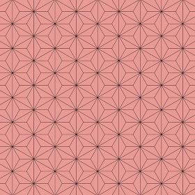 麻の葉模様 黒×赤 7