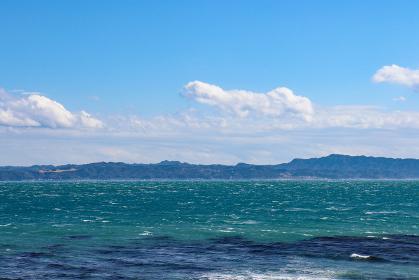 観音崎の展望園地から見た東京湾(神奈川県横須賀市)