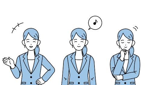 ビジネスウーマン 会社員 スーツ姿の女性 笑顔 頷く