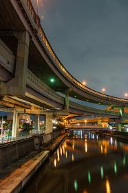 小菅ジャンクション 夜景