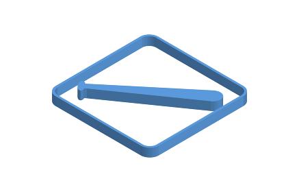 野球のバットの青いアイソメトリックアイコンイラスト