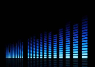 ミュージック、サウンドのイメージ ブルー