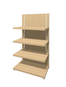 木製販売促進什器の3dレンダリング