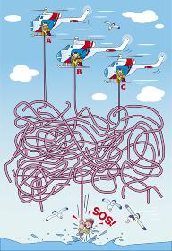 迷路_ヘリコプターからロープで救助