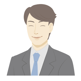 男性のイラスト / 笑顔