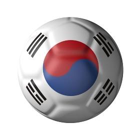 韓国のサッカーボール型国旗
