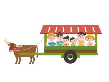 沖縄の水牛イラスト