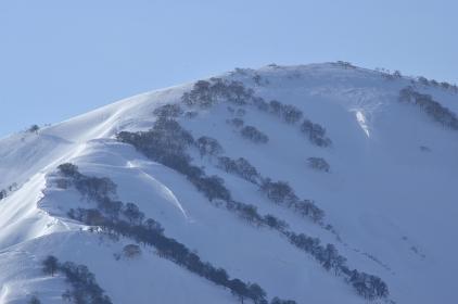 冬の飯豊の雪山