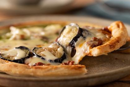 ハーフ&ハーフのピザ