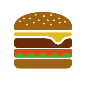 カラーイラスト アイコン / ハンバーガー・食べ物・ジャンクフード