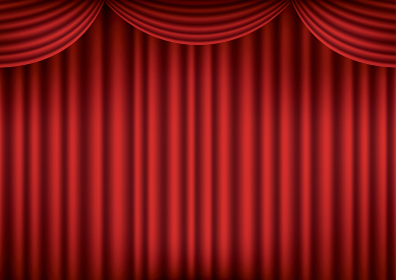閉じた赤い舞台の幕のベクターイラスト