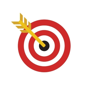 Target Flat Concept Icon Vector Illustration. Target Icon Image. Target Icon Sign.. Target Flat Concept Icon Vector Illustration. Target Icon Image.