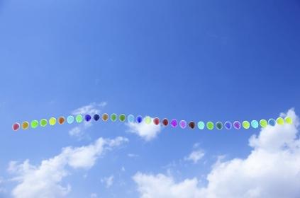 並んだ風船