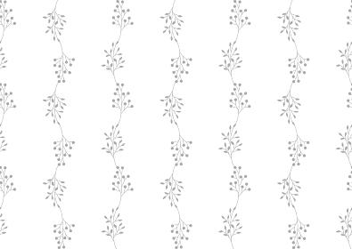 グレーの小枝と実のシームレスな背景イラスト 2