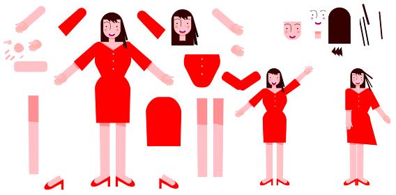 女性のボデイの組み立てベクターセット