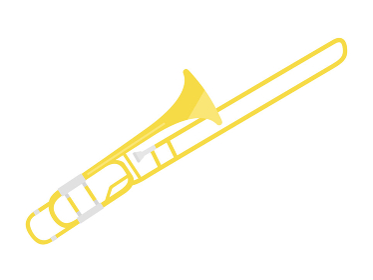 楽器のトロンボーンのイラスト