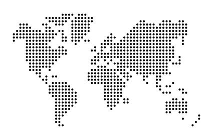 丸いドットで簡略化した世界地図ベクターイラスト