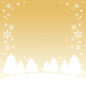 クリスマス 冬の景色のイラスト素材