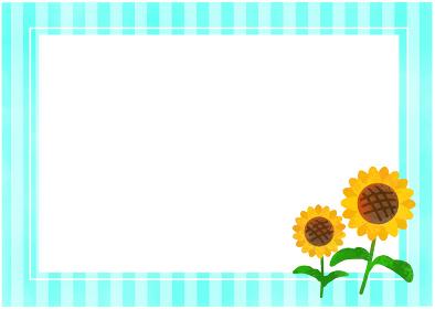 向日葵とストライプ背景/ベクター