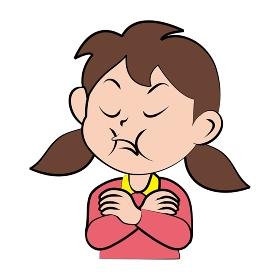 女の子の表情 (ぷん!)