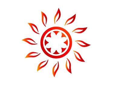 夏の灼熱の太陽|シンボル アイコン