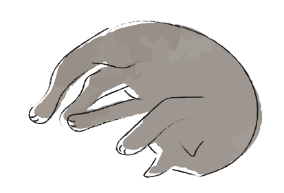 手描き 猫のイラスト
