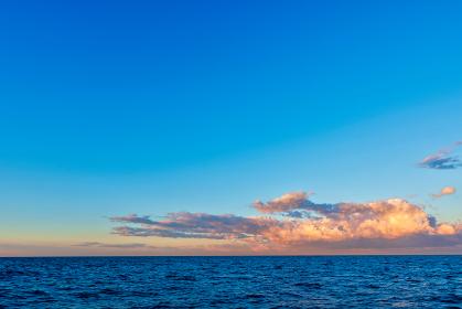 青空と海と雲と【玄界灘】