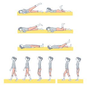 運動 歩く動作やストレッチなど