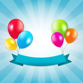 Colored Balloons Background, Vector Illustration.  EPS 10. Colored Balloons Background, Vector Illustration.