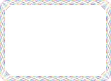 虹色のサインカーブのフレーム