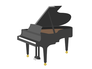楽器のピアノのイラスト