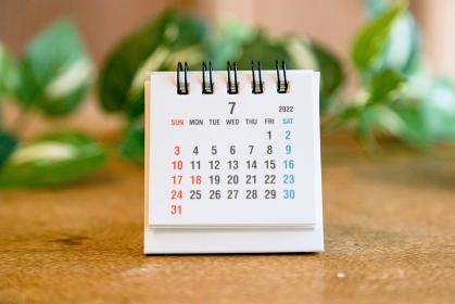 2022年7月の卓上カレンダー