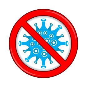 Stop Pandemic Novel Coronavirus Icon Isolated on White Background