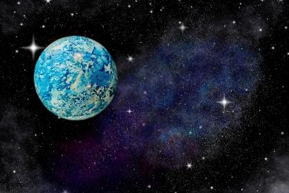 地球・宇宙のイメージ / イラスト背景合成あり
