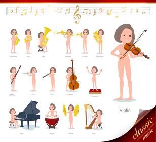flat type nude women_classic music