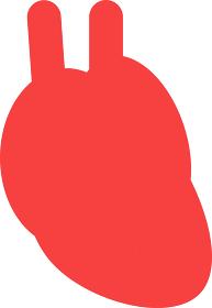 シンプルな心臓のイラスト 内臓 循環器