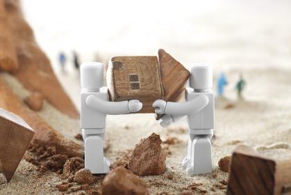 災害で救助活動をするロボット