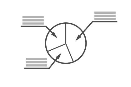 円グラフ ベクターイラスト